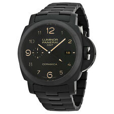 Panerai Luminor 1950 Tuttonero GMT Black Dial Black Ceramic Mens Watch PAM00438