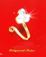 Bollywood Nose ring Rhinestone NO Piercing Fake Piercing Nose clip Gold Color