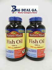 Nature Made 400 Liquid Soft Gels 120/360 mg omega-3 Fish Oil Dietary Supplements