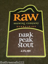 BEER PUMP CLIP - RAW DARK PEAK STOUT