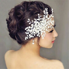 New Charm Bride Crystal Pearl&Rhinestone Headpiece Bridal Wedding Hair Comb