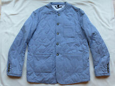 NWT $1995 BURBERRY PRORSUM Blue/White Stripe Quilted Coat/Jacket US 34 EU 44