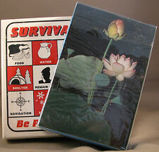 Survival Playing Cards + Plant Identification Cards Prepper Gear Supplies Bag E