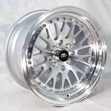 MST MT10 17x9 5x100/5x114.3 +20 Silver Rims Fits Accord Prelude Rsx Civic