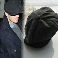 Hot Tweed herringbone Gatsby Cap Hat Mens Ladies Flat 8 Panel Baker Boy Newsboy