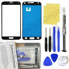 Black Samsung Galaxy S5 G900 Front Glass Screen Replacement Repair Kit