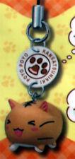 Poyo Poyo Kansatsunikki Poyo Satou Smiling Cat Cell Phone Strap Charm NEW