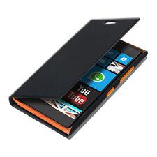 kwmobile Flip Cover Case für Nokia Lumia 730 735 Schwarz Schutz Hülle Etui Slim