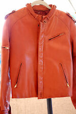 Vintage Men's Gandalf Leather Co. 1970s Brown Leather Jacket Size 38 Or Small