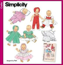 Simplicity Teri Sewing Pattern 4707 Vintage Baby Doll Clothes 3 Sizes FREE POST