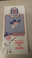1975 Detroit Tigers Media Guide