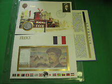 France Banknote UNC & Stamp First day Cover Mint Presentation Set French