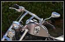 PAIRE de rétroviseurs moto Chrome / Mains de Squelette ( leonart daytona spyder