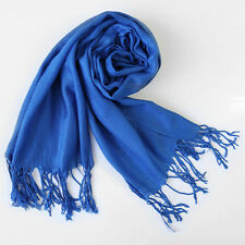 Fashion Womens Winter Warm Scarf Cashmere Silk Long Pashmina Large Shawl Wrap