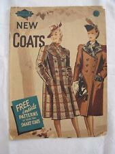 "VINTAGE 1940's ""WELDON"" NEW COATS SEWING FASHION MAGAZINE"