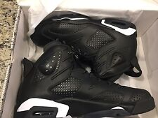 AIR JORDAN 6 RETRO BLACK CAT Men's Size 11 BLACK /WHITE 384664-020