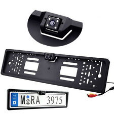 EU European Car Number License Plate Frame Mount + Rear View Waterproof Camera
