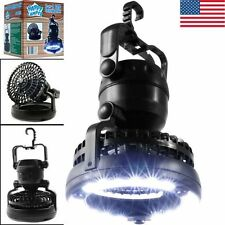 HOT SELL 2-in-1 Outdoor Latern Portable 18LED Tent Camping Light with Fan Hiking