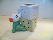 Vintage Elephant with Blocks Made in Japan Figurine Curio Kitch