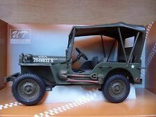 1:18 Scale Willy's Jeep with Canvas Top: US Military: Diecast by UT Models: NEW