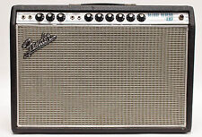 1969 Fender Deluxe Reverb Silver Face Guitar Amplifier Combo - 1x12 Drip Edge