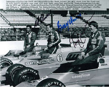 AL UNSER & BOBBY UNSER & TOM SNEVA GROUP SIGNED 8x10 PHOTO 1977 INDY 500 PSA/DNA