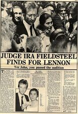 7/8/76PNO5 &6 JUDGE IRA FIELDSTEEL FINDS FOR JOHN LENNON ARTICLE & PICTURES