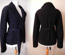 Vintage Insp Coat 40s 50's War Bride Soldiers Sweetheart Wool Jacket 16 44 US 12