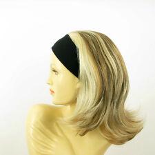 Perruque avec bandeau blond clair méché cuivré clair ref XENA en 15613h4