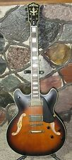 Washburn / HB36K Semi-Hollowbody - Center Block / Vintage Sunburst / Hard Case
