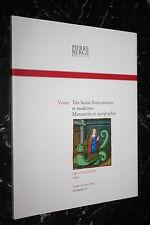 PIERRE BERGER & ASSOCIES VENTE TRES BEAUX LIVRES ANCIENS ET MODERNES ECT...