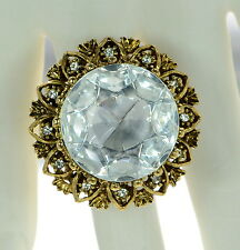 Kenneth Jay Lane Crystal Cocktail Ring Sz.- 7