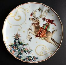 Williams Sonoma Twas the Night Before Christmas Reindeer Dinner Plates