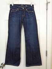 7 for all Mankind Dark Wash Dojo Boot Cut Jeans Size 24 EXC U115ff380S