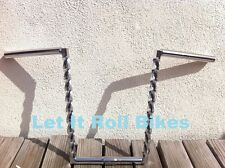 "BICYCLE HANDLEBAR 14"" SQUARE TWISTED CHROME CRUISER LOWRIDER CYCLING BIKES"