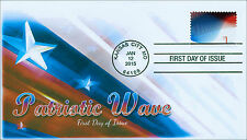 NEW 2015, Patriotic Wave, 1 Dollar Postage, FDC, Item 15-001