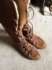 Timberland comfort women's brown size 5 1/2 uk Leather lace up boots, waterproof