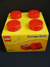 NEW LEGO Red Storage Brick Large Tub Project Case 4 Knobs Stud Organizer Stacks