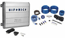 "Hifonics ZRX1216.1D 1200 Watt RMS Class ""D"" Mono Car Amplifier + Amp Kit"