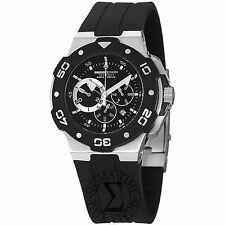 Momo Design Men's Tempest Black Dial Rubber Strap Quartz Watch MD1004-02BKWT-R