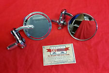 CAFE RACER ROUND CHROME BAR END MIRRORS