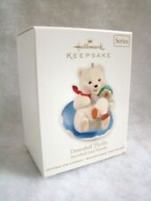"New HALLMARK Keepsake Downhill Thrills Snowball Bear Tuxedo Penguin 3"" Ornament"