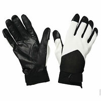 G75 YOUTHS MENS LEATHER FITTED GLOVE AIR MESH DRIVING SMART BIKE RIDNG ONE SIZE