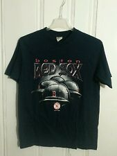 BOSTON RED SOX TEE LARGE BLUE TRUE FAN SHORT SLEEVE GREAT GRAPHIC