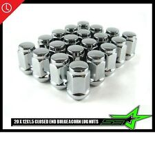 20 CHROME LUG NUTS 12X1.5 | FITS- TOYOTA, LEXUS, SCION, AFTERMARKET WHEELS LUGS