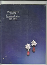 AUCTION CATALOGUE -SOTHEBY'S-IMPORTANT JEWELERY, NY JUNE 6 1989 VG+