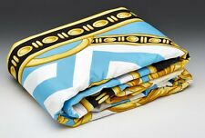 VERSACE La Coupe Dieux King Size Bed Duvet Cover + Sheet Set 4 pcs Turquoise