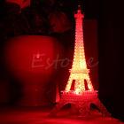 Lovely Eiffel Tower Night Light Cute LED Lamp Desk Bedroom Decor Small Lighting