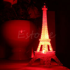 New Romantic Eiffel Tower Colorful LED Night Light Bedroom Decoration Table Lamp