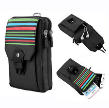 Black Outdoor Hiking Sport Pouch Phone Bag for Iphone 6/6s Plus / LG G4 G5 / V10